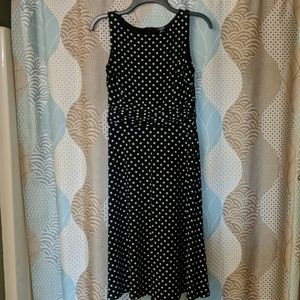 Black and White polka dot dress by Chaps